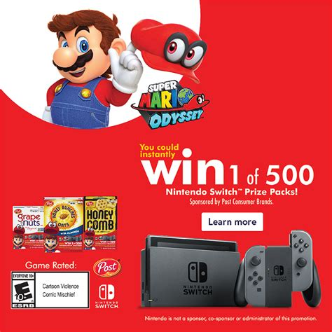 nintendo switch sweepstakes from post consumer brands - Sweepstakes Nintendo Switch