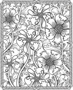 free printable flower coloring pages for adults detailed coloring pages for adults coloring home