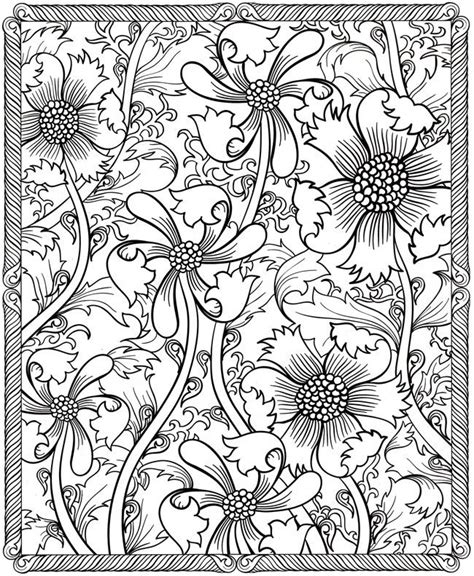 printable adult coloring pages flowers detailed coloring pages for adults coloring home