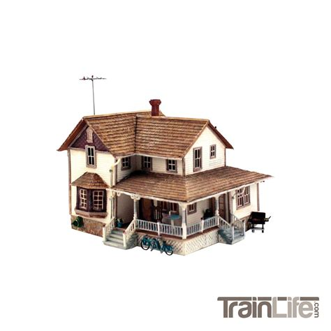 house design model ho scale corner porch house kit model train plans pinterest luxamcc