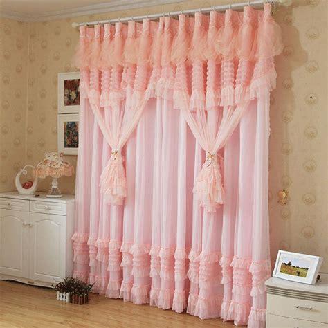 ruffle bedroom curtains emboridered roses lace ruffled curtains cortinas para sala