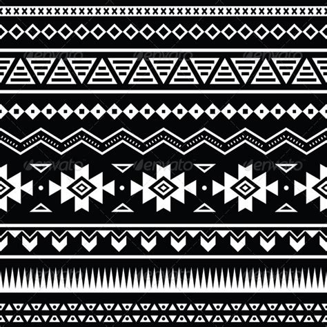 tribal pattern black and white aztec seamless pattern tribal black and white graphicriver