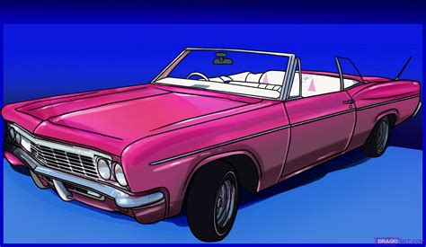 cars drawings how to draw a lowrider step by step cars draw cars