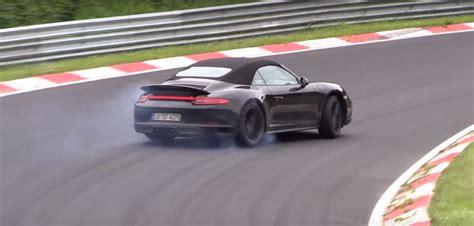 drift porsche 911 porsche 911 gts cabriolet 991 2 facelift spied