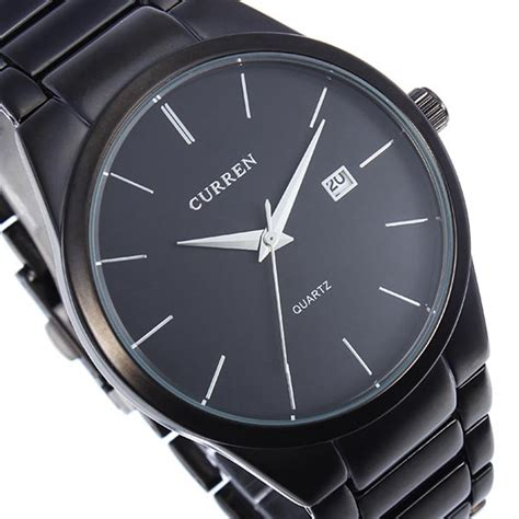 Curren Mens Black Stainless Steel Band 8106 fashion curren 8106 black stainless steel quartz