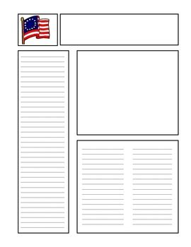 Free Printable Newspaper Template For Students by Blank Newspaper Template For