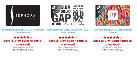 Staples Gap Gift Card 20 Off - staples 20 off select gift cards points miles martinis