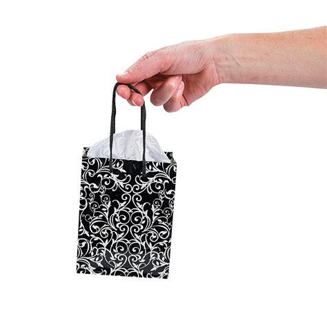 black wedding gift bags small black white wedding gift bags oriental trading
