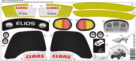 Aufkleber Claas by Aufkleber Claas Elios 230 Ihr Spielwarenhandel