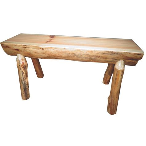 Amish Kitchen Furniture Traditional Log Bench Amish Crafted Furniture