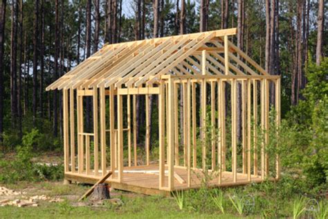 building a shed for your own backyard