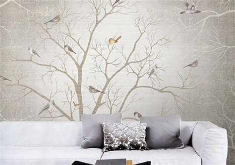 Birch Wall Mural 15 impressive wall mural ideas that bring the outdoors in
