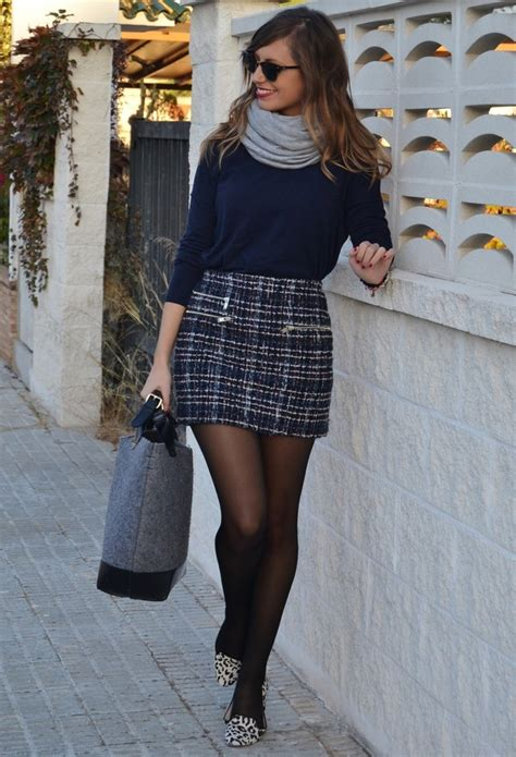 Of The Blogs Silver Plaid And The Wears Prada by 21 Winter Combinations With Skirts