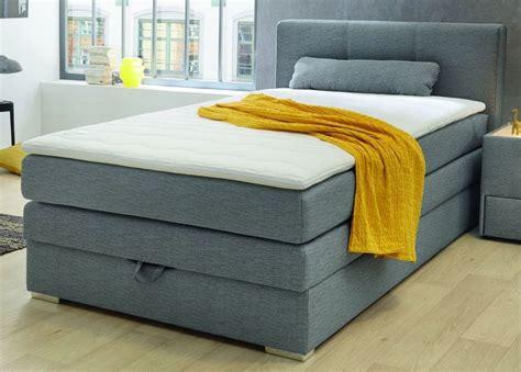 canapé lit 120 cm lit boxspring 120 x 200 cm ton gris sb meubles discount