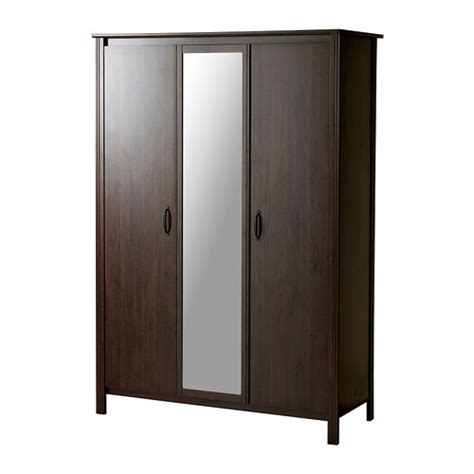 Ikea Wardrobes Brusali Wardrobe With 3 Doors Ikea