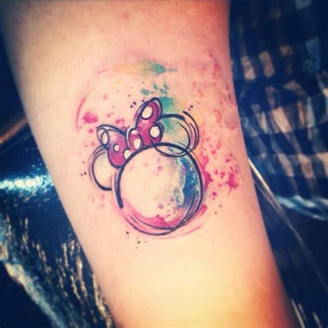 minnie mouse bow tattoo best 25 disney watercolor ideas on