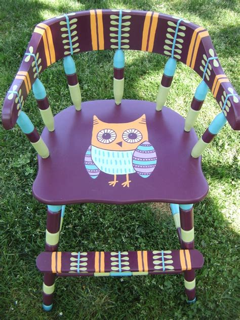Owl High Chair by 17 Best Ideas About Painted High Chairs On Wooden High Chairs Vintage High Chairs