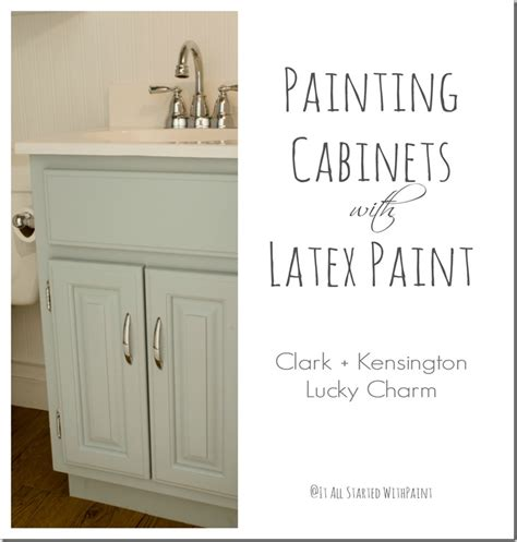 latex paint on cabinets bathroom paint colors it all started with paint