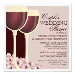 couples wedding shower wine themed invitation zazzle