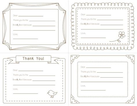 shelter template card 17 best images about thank you notes on