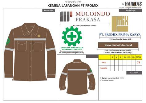 Seragam Lapangan Bahan Katun Lacos seragam kerja tambang konveksi seragam kantor seragam kerja