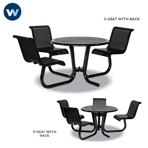 outdoor chair with table attached 42 inch outdoor table ada universal access with attached