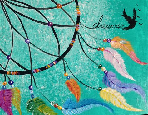 acrylic painting step by step tutorial dreamcatcher step by step acrylic painting lesson on