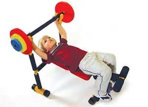 fun and fitness weight bench for kids kids exercise fitness bench press set fun equipment weight play toy barbell what s