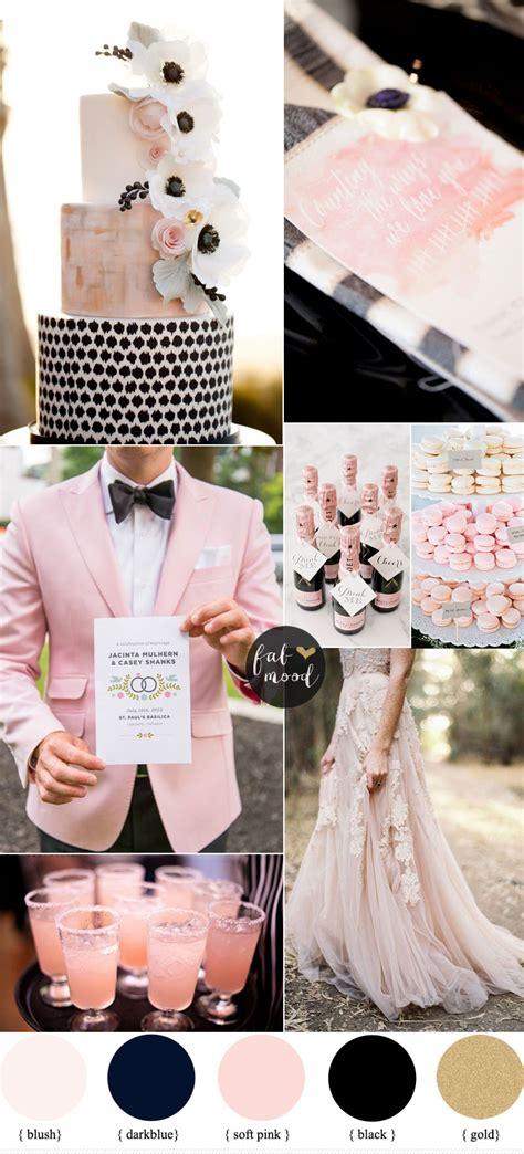 wihad designs the romantic colour pink black and blush pink wedding romantic color scheme