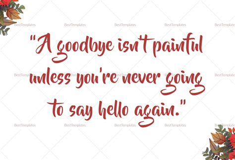 farewell card template goodbye farewell invitation card design template in word