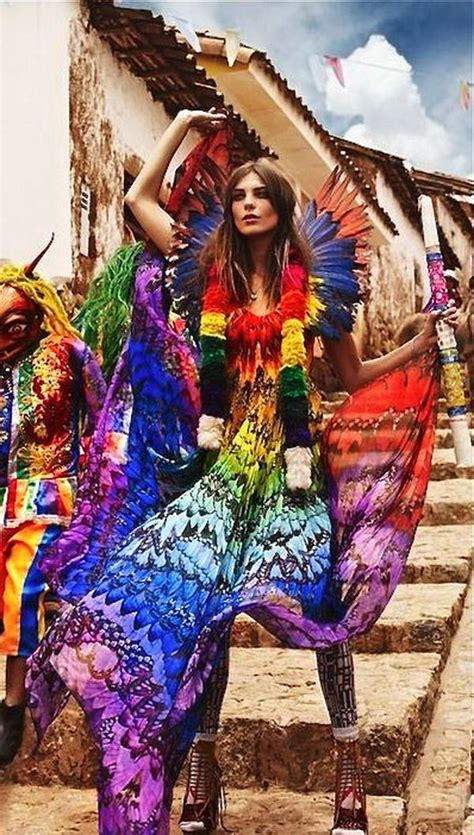 gorgeous rainbow colored dress designs hative