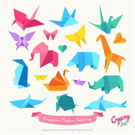 Origami Paper Clip - origami paper folding digital clip origami animals
