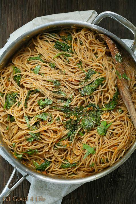 tomato pasta recipe spinach pasta with homemade tomato sauce