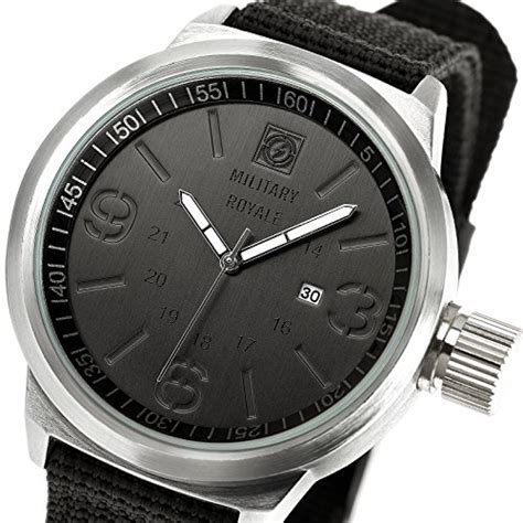 s watches royale silver black fabric swiss army cer mens quartz