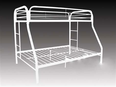 Bunk Beds Metal Frame by Metal Bunk Bed Frame White Nyfastfurniture