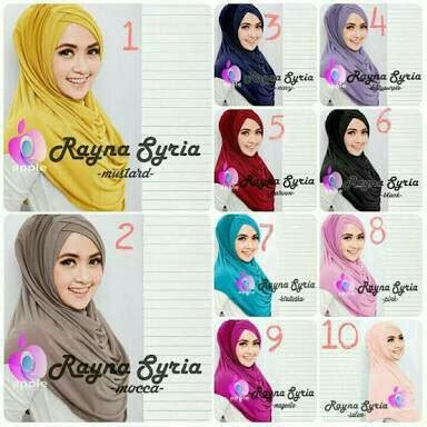Restok Syria Rayna Premium New Variant Jual Harga Jilbab Syria Rayna Premium Zero2fifty