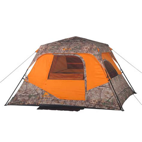 6 Person Cabin Tent by Ozark Trail X Realtree Xtra 6 Person Instant Cabin Tent