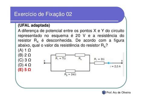 resistor qual a ã ã o associa 231 227 o de resistores exerc 237 cios