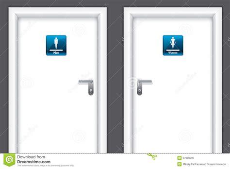 School Comfort Room by Doors With Restroom Symbols Stock Vector Image 27886297
