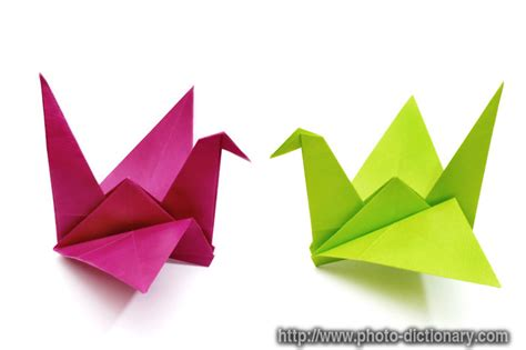 Origami Cranes - origami birds photo picture definition at photo