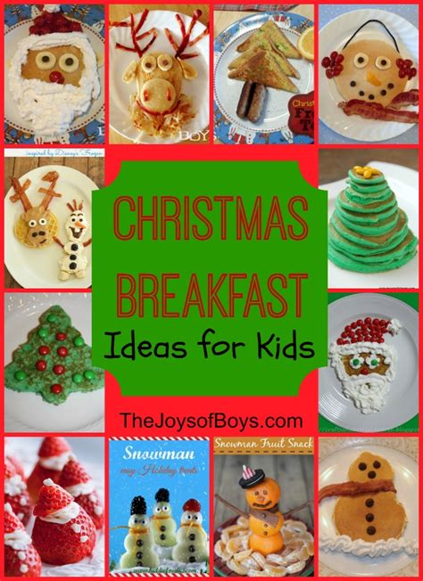 fun christmas breakfast ideas for kids the joys of boys