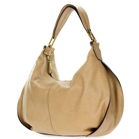 Leather Handbag Beige gianni chiarini italian made beige pebbled leather slouchy