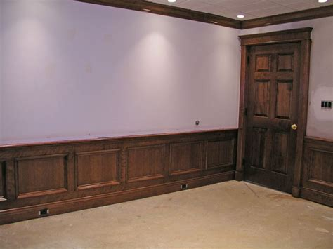 Wainscot Wood by Walls With Stained Wood Wainscoting Interior