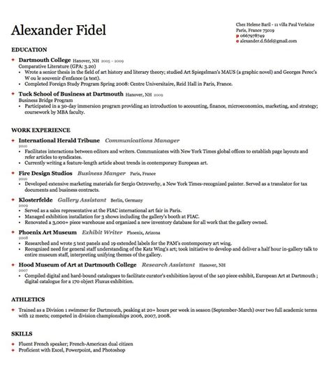 Harvard Resume Template by Harvard Resume Template Learnhowtoloseweight Net