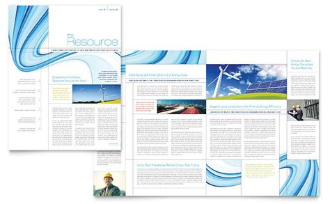 powerpoint newsletter templates renewable energy consulting newsletter template word