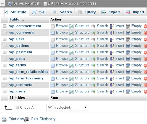 mysql duplicate table steps to copy a mysql table with phpmyadmin explained