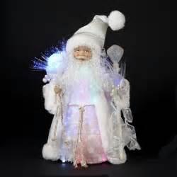christmas decorations 12 quot white iridescent fiber optic
