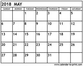 Calendar 2018 One Stop May 2018 Calendar Printable