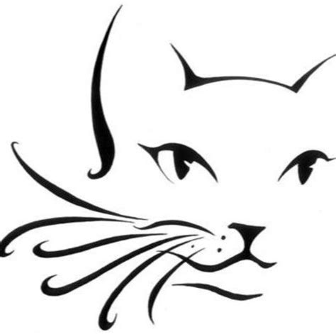 cat tattoo line drawing cat outline cheek arm design face painting designs by