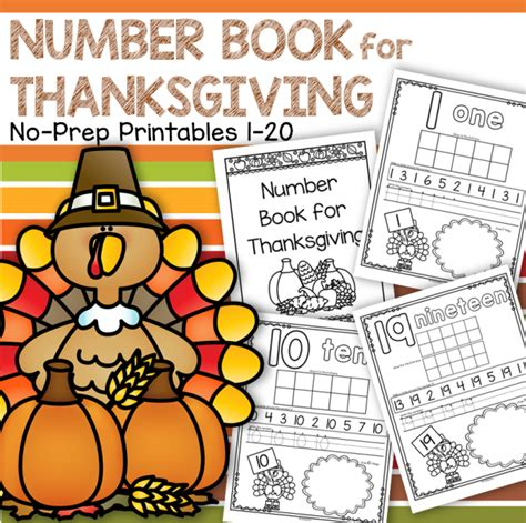 printable turkey counting book thanksgiving themed activities for preschool prek and